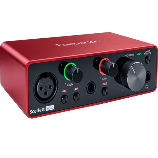 FOCUSRITE - SCARLETT3 SOLO - Interface audio - USB - 2 in/2 out USB-C